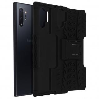 Stoßfeste Schutzhülle + Standfunktion für Samsung Galaxy Note 10 Plus - Schwarz