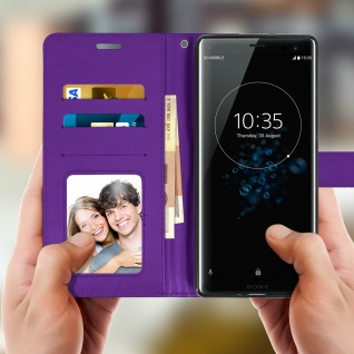 Flip Stand Cover Brieftasche & Standfunktion Sony Xperia XZ3 - Violett - Vorschau 3