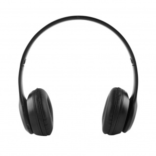 Klappbare Stereo-Bluetooth-Kopfhörer Mikro FM-Radio 3, 5mm Klinkeneingang Schwarz
