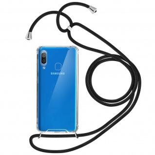 Handykette Handyhülle mit Halsband für Samsung Galaxy A20e - Schwarz