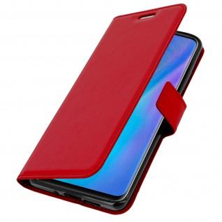 Flip Stand Cover Brieftasche & Standfunktion für Huawei P30 Pro - Rot - Vorschau 2