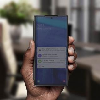 Samsung Galaxy Note 10 Flip Cover mit Spiegeleffekt & Standfunktion - Schwarz - Vorschau 4