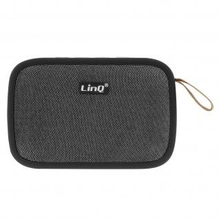 LinQ 4.2 Bluetooth kabelloser Lautsprecher mit SD-Kartenslot/Micro-USB/FM - Grau