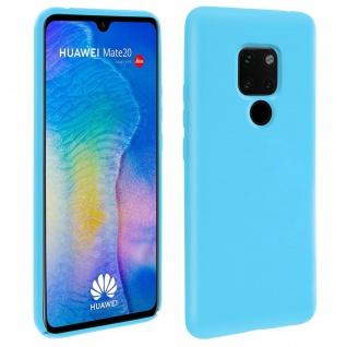 Huawei Mate 20 Soft Touch kratzfeste Silikonhülle, soft case - Türkisblau