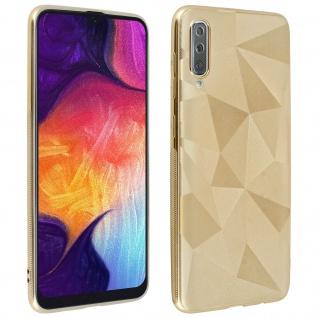 Holographische Handyhülle für Samsung Galaxy A50, Prism Design, Mocca - Gold