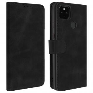 Flip Stand Case Brieftasche & Standfunktion für Google Pixel 4A 5G ? Schwarz