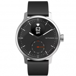 Withings Gesundheits-Wearable Scanwatch, 42mm Armband mit EKG und SpO2 - Schwarz