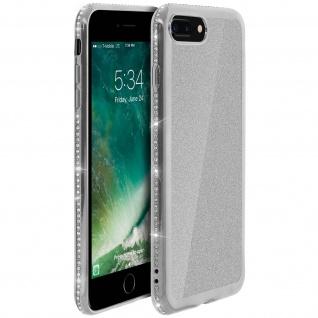 Schutzhülle, Glittery Case für iPhone 7Plus/8Plus, shiny & girly Hülle - Silber