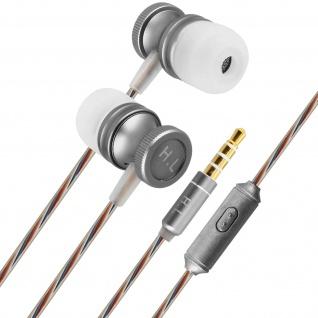 Kabelgebundene In-Ear-Kopfhörer Multifunktionstaste Integriertes Mikrofon Silber