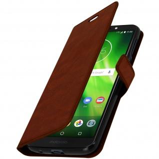 Flip Stand Cover Brieftasche & Standfunktion Motorola Moto G6 Play/E5 - Braun