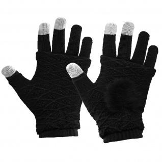 2-in-1 Fingerlose Handschuhe & Touchscreen-Handschuhe � Schwarz