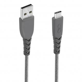 Force Power USB-C - USB Ladekabel 1.2m - Aufladen & Synchronisierung Grau - Vorschau 5