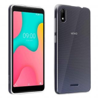 Original Wiko Y60 Schutz-Set: Silikon Gelhülle + 9H Displayschutz - Transparent