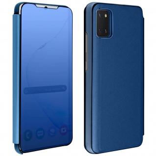 Mirror Klapphülle, Spiegelhülle für Samsung Galaxy Note 10 Lite - Blau