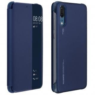 Original Huawei Flip Cover Huawei P20 durchsichtige Frontklappe - Dunkelblau