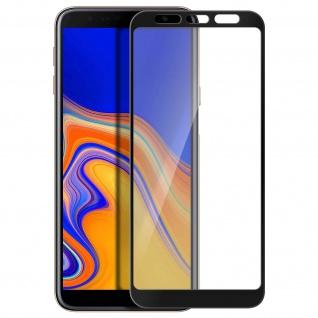 Premium Panzerglas Schutzfolie für Samsung Galaxy J4 Plus - Rand Schwarz