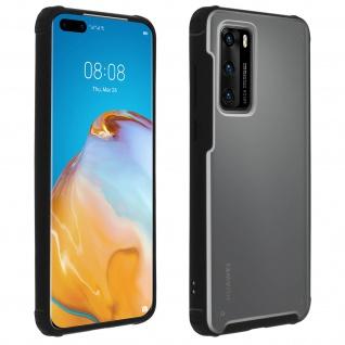 Stoßfeste Handyhülle, Milchglas Rückseite für Huawei P40 ? Schwarz