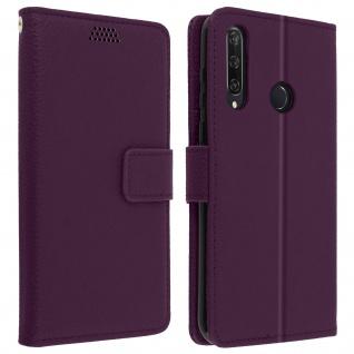 Huawei Y6p Flip-Cover mit Kartenfächern & Standfunktion - Violett