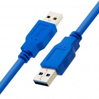 USB 3.0 Typ A SuperSpeed-Übertragungskabel 1, 5m, by LinQ - Blau