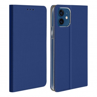 Apple iPhone 12 Mini Flip Cover mit Standfunktion - Blau
