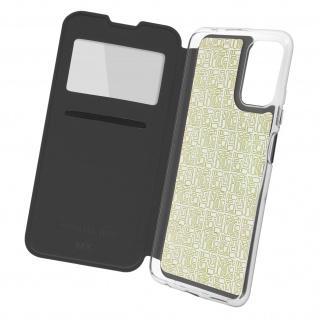 Xiaomi Redmi Note 10 Pro Etui Sichtfenster & Kartenfach, mit Gelhülle ? Schwarz