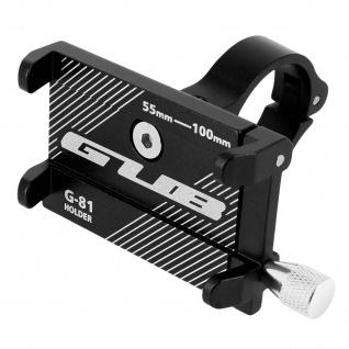 G81 Fahrrad Lenkrad Halterung aus Stahl für 55 bis 100mm breite Smartphones