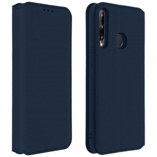 Kunstleder Cover Classic Edition Huawei P40 Lite E - Blau