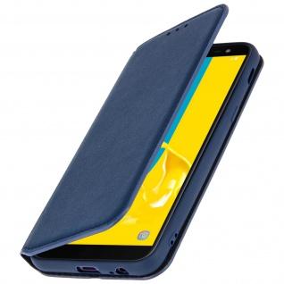 Flip Kunstleder Cover Geldbörse Classic Edition Samsung Galaxy J6 - Dunkelblau