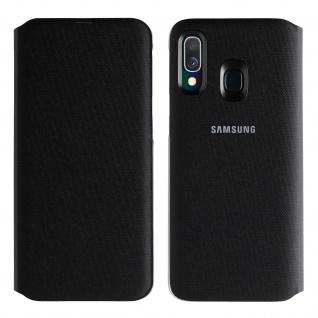 Samsung Wallet Cover für Samsung Galaxy A40, Original Samsung Hülle - Schwarz
