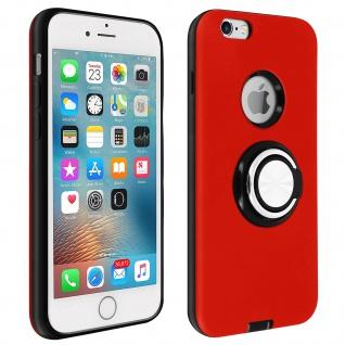 Armor Shield Handyhülle mit Ring Halterung für Apple iPhone 6, iPhone 6S - Rot