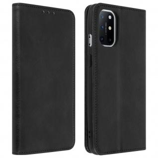 OnePlus 8T Kunstlederhülle mit Kartenfach & Standfunktion ? Schwarz