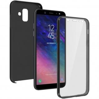 Schutzhülle für Samsung Galaxy A6, Vorder- + Rückseite ? Schwarz