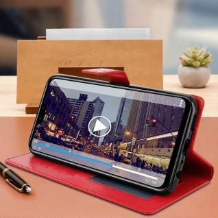 Flip Stand Cover Brieftasche & Standfunktion für Huawei Y9 2019 - Rot - Vorschau 4