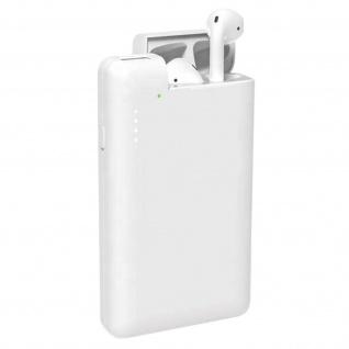 10000 mAh weiße Powerbank 1x USB Anschluss und 1x integriertes AirPods Ladecase