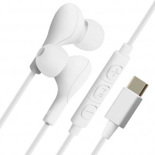 4Smarts kabelgebundene In-Ear Kopfhörer+Fernbedienung und Magnet, weiß