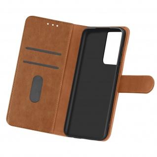 Flip Cover Geldbörse, Etui Kunstleder für Samsung Galaxy S21 Ultra ? Braun