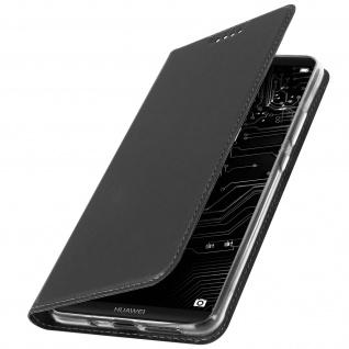 Flip-Cover für Huawei Mate 10 Pro mit Kartenfach & Standfunktion - Schwarz