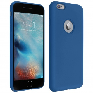 Halbsteife Silikon Handyhülle iPhone 6 Plus / 6S Plus, Soft Touch - Dunkelblau