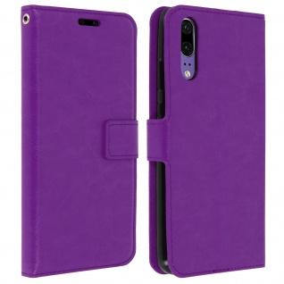 Flip Cover Stand Case Brieftasche & Standfunktion für Huawei P20 - Violett