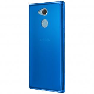 Gelhülle, Backcover für Sony Xperia XA2, Anti-Fingerabdruck, flexibel - Blau - Vorschau 3
