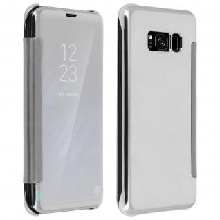 Silberfarbene Clear View Schutzhülle für Samsung Galaxy S8 Plus