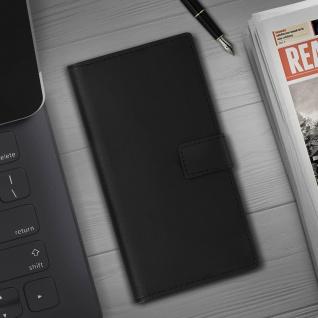 Samsung Galaxy Note 10 Cover aus Echtleder mit Standfunktion- Schwarz - Vorschau 4