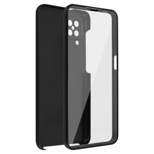Schutzhülle für Samsung Galaxy M12, Vorder- + Rückseite ? Schwarz