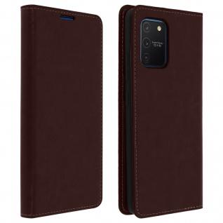 Business Leder Cover, Schutzhülle mit Geldbörse Samsung Galaxy S10 Lite - Braun
