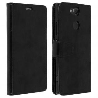 Flip Cover Stand Case Brieftasche & Standfunktion für Sony Xperia XA2 - Schwarz