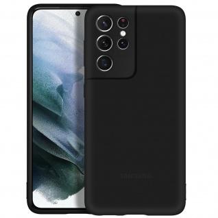 Original Samsung Soft Silicone Cover für Samsung Galaxy S21 Ultra - Schwarz