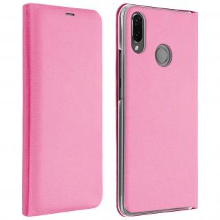 Flip Book Cover, Klappetui aus Kunstleder für Huawei P Smart Plus - Rosa