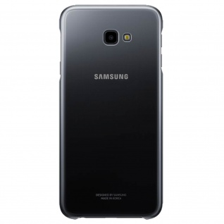 Original Samsung Clear Cover Schutzhülle für Samsung Galaxy J4 Plus - Schwarz
