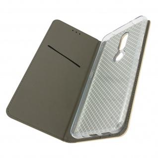 Nokia 2.4 Premium Kunstlederhülle mit Standfunktion ? Gold