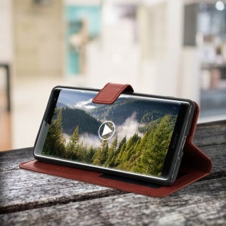 Flip Stand Cover Brieftasche & Standfunktion Sony Xperia XZ3 - Braun 5